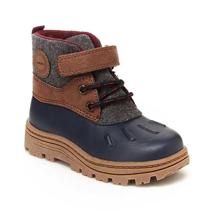 Alternate image 1 for carter's® Duck Boots in Grey/Navy