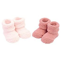 carter's® Newborn 2-Pack Chenille Keepsake Booties in PInk