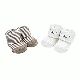 carter's® Newborn 2-Pack Stripe Bear Booties