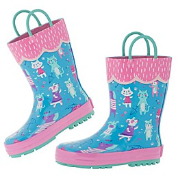Stephen Joseph® Cats and Dogs Rain Boot in Blue/Pink