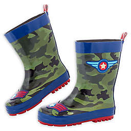 Stephen Joseph® Pilot Rain Boot in Camo