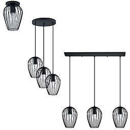 Eglo USA Newtown Lighting Collection in Black