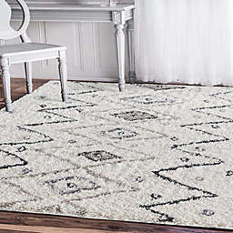 Amer Rugs® Denver Stripe Southwest Shag Rug in Ivory
