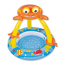 Pool Central Crab Canopy Baby Pool in Blue/Yellow