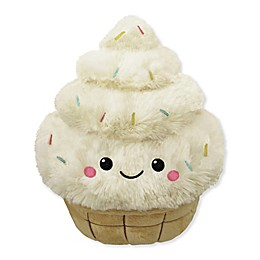 Squishable Comfort Food Mini Soft Serve Plush Toy in White/Brown