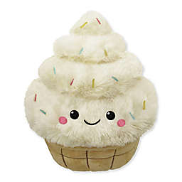Squishable Comfort Food Mini Soft Serve Plush Toy in White/Brown