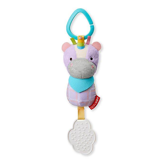 Alternate image 1 for SKIP*HOP® Bandana Buddies Chime & Teethe Unicorn Toy
