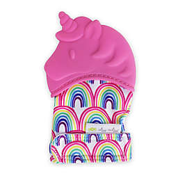Itzy Ritzy® Unicorn Silicone Teething Mitt in Pink