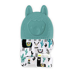 Itzy Ritzy® Llama Silicone Teething Mitt in Blue
