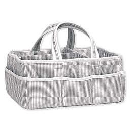 Trend Lab® Gingham Seersucker Storage Caddy in Grey/White