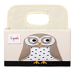 3 Sprouts Owl Diaper Caddy in White