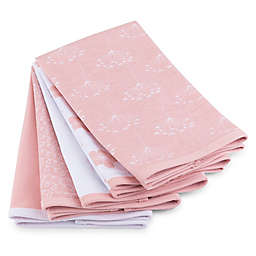 Ely's & Co.® 5-Pack Floral Burp Cloths in Pink