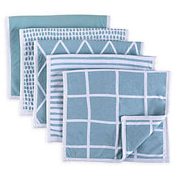Ely's & Co.5-Pack Reversible Fleece Burp Cloths