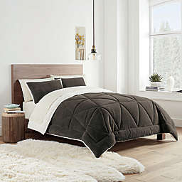 UGG® Avery 2-Piece Reversible Twin/Twin XL Comforter Set in Mole