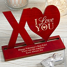 XO Personalized Wood Keepsake in Natural