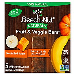 Beech-Nut® 5-Count Stage 4 Banana and Pumpkin Fruit & Veggie Bars