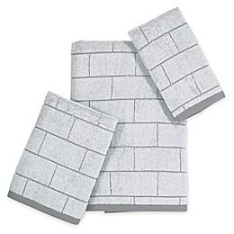DKNY Grey Tile Bath Towel Collection