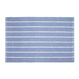 Calvin Klein Eileen Bath Rug Collection in Blue/White