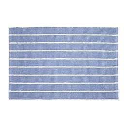 Calvin Klein Eileen Bath Rug Collection in Blue/White
