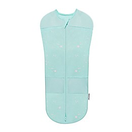 Happiest Baby Organic Cotton Swaddle in Teal Stars