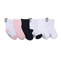 Robeez® 6-Pack Sweet Kitty Socks in White/Navy/Pink
