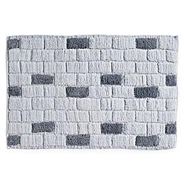 DKNY Grey Tile Bath Rug Collection