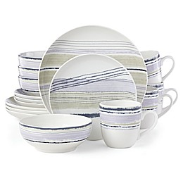 Lenox® Woven Stripes™ Lavender 16-Piece Dinnerware Set