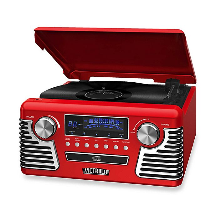 Alternate image 1 for Victrola™ Retro Record Player Stereo with Bluetooth® and USB Digital Encoding