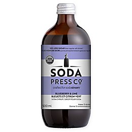 SodaStream® Soda Press CO® 500 ml. Organic Blueberry & Lime Soda Syrup