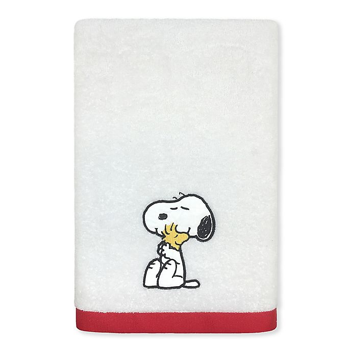 Alternate image 1 for Peanuts™ Bath Towel in White