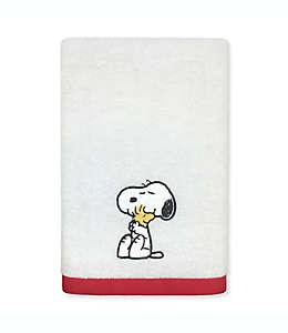 Toalla de medio baño de algodón Peanuts™ color blanco