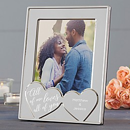 Romantic Hearts Engraved Picture Frame