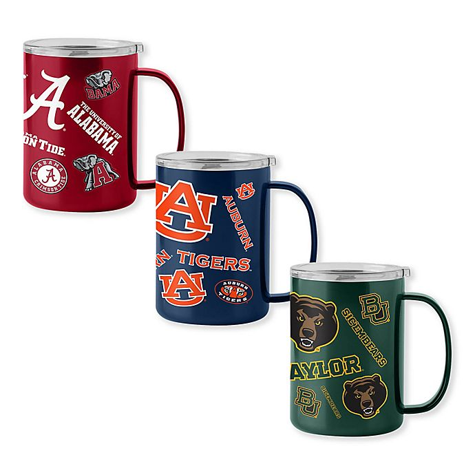 Alternate image 1 for Collegiate 15 oz. Stainless Steel Ultra Mug with Lid