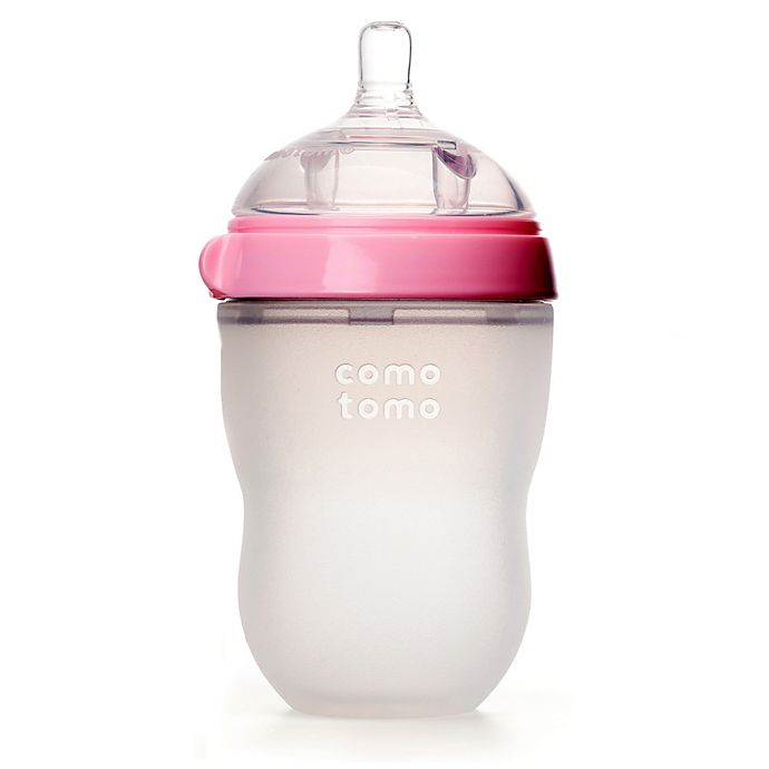 Alternate image 1 for comotomo® 8-Ounce Baby Bottle in Pink