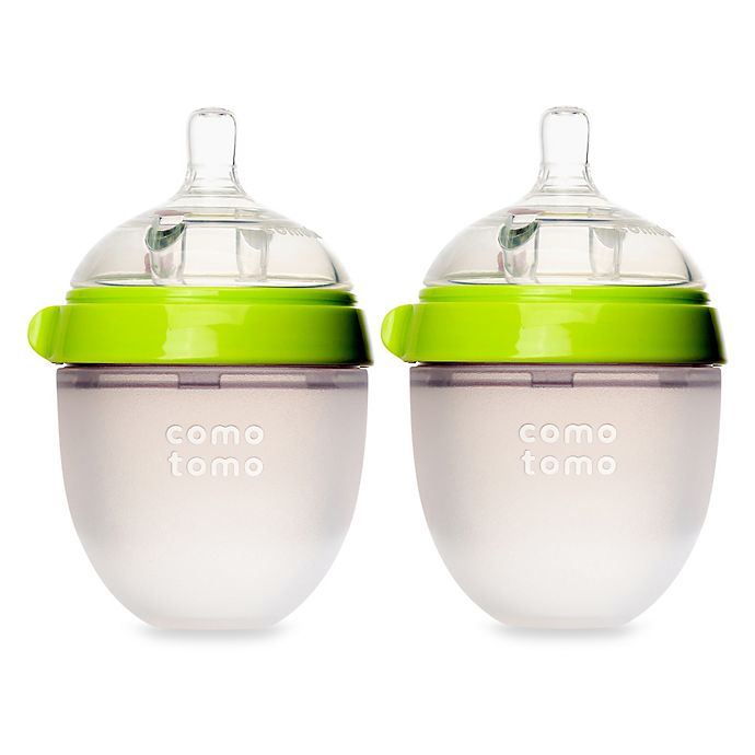 Alternate image 1 for Comotomo™ 5-Ounce Baby Bottles in Green (2-Pack)