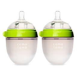 comotomo® 5-Ounce Baby Bottles in Green (2-Pack)