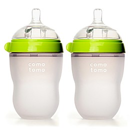 comotomo® 8-Ounce Baby Bottles in Green (2-Pack)