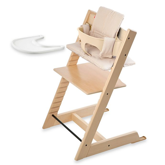 Alternate image 1 for Stokke® Tripp Trapp® High Chair Complete Bundle in Natural