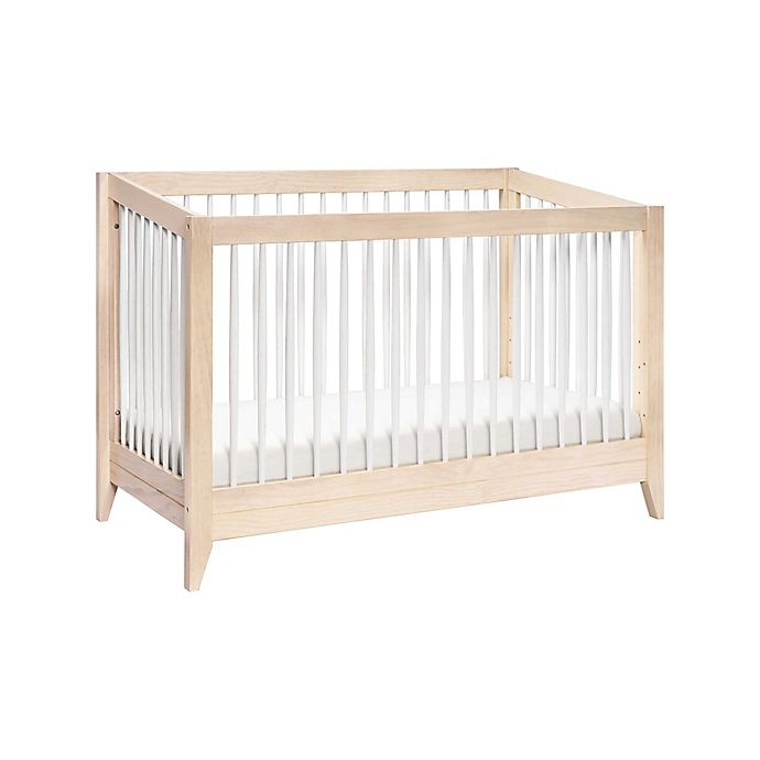 Alternate image 1 for Babyletto Sprout 4-in-1 Convertible Crib with Toddler Bed Conversion Kit in White
