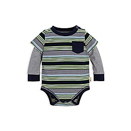 Burt's Bees Baby® 2Fer Stripe Organic Cotton Bodysuit in Navy/Green