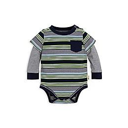 Burt's Bees Baby® 2Fer Stripe Organic Cotton Bodysuit in Navy/Green