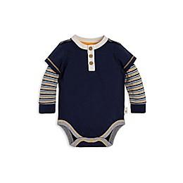 Burt's Bees Baby® 2Fer Henley Organic Cotton Bodysuit in Navy