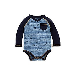 Burt's Bees Baby® Organic Cotton Space Dye Farm Harvest Bodysuit in Blue
