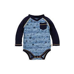 Burt's Bees Baby® Organic Cotton Space Dye Farm Harvest Bodysuit in Blue