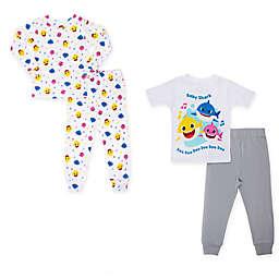 4-Piece Sing Sharks Toddler Pajama Top and Pant Set in Grey