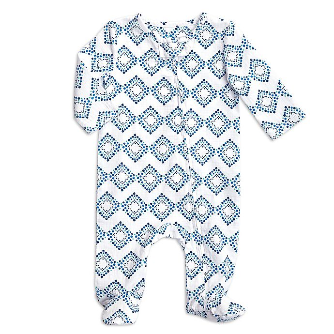 Alternate image 1 for aden + anais® Diamond Footie in Blue