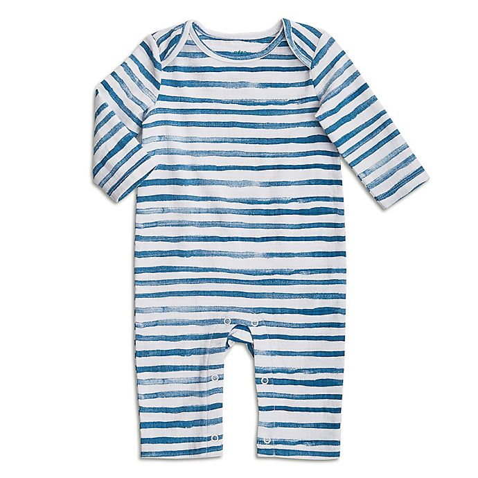 Alternate image 1 for aden + anais® Stripe Coverall in Blue