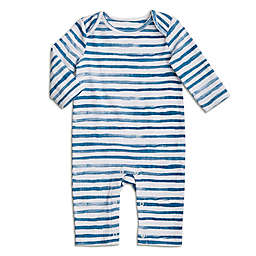 aden + anais® Size 3-6M Stripe Coverall in Blue