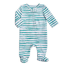 aden + anais® Water Stripe Footed Coverall in Mint