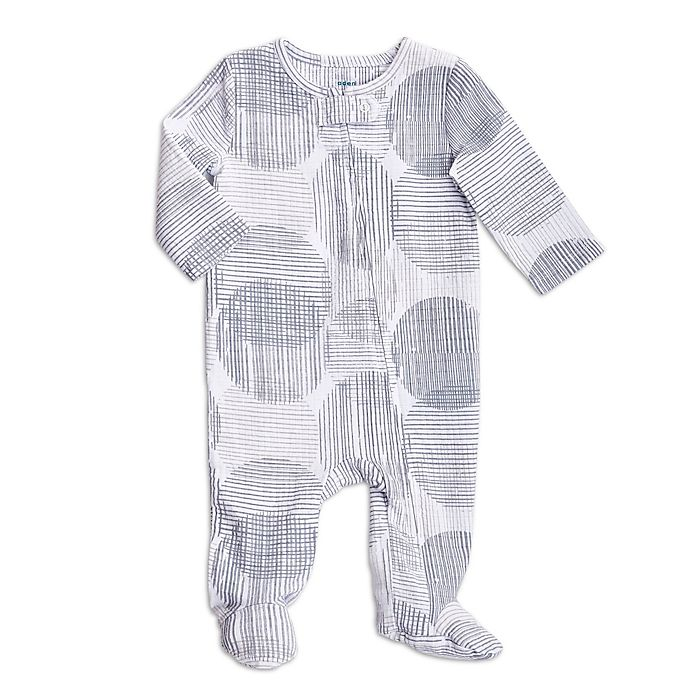 Alternate image 1 for aden + anais® Circle Hatch Footie in Grey